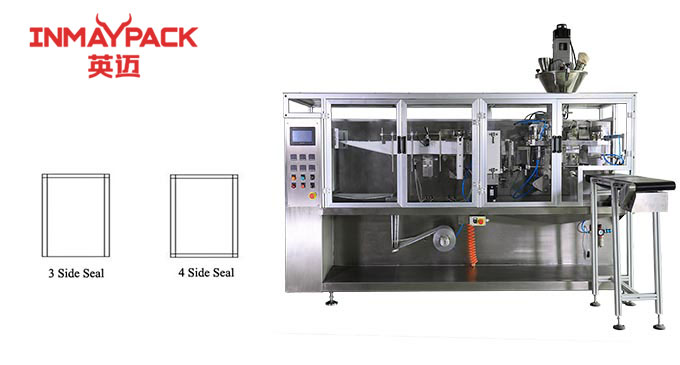 Three and four side sachet pouch packaging machine