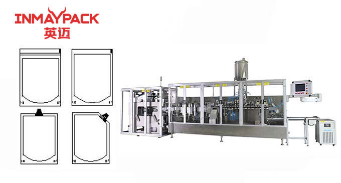 Zipper doy pack standup pouch packaging machine